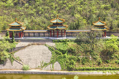 Aerial view of the Great Wall in China Stock Images