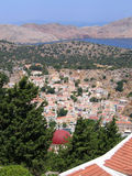 Aerial view on Greek island Royalty Free Stock Images