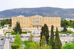 Aerial view of the Greek parliament Stock Photo