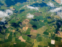 Aerial view of green fields in Porto Portugal Royalty Free Stock Photography
