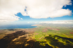 Aerial View of Green Land at Daytime Royalty Free Stock Image