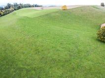 Aerial view of green yard farming Royalty Free Stock Photos