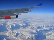Aerial view on Greenland Stock Image