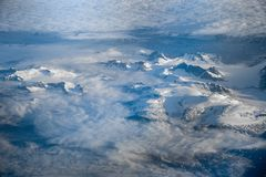 Aerial view of greenland stock images