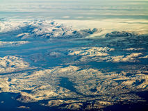 Aerial view of greenland ice sheet Stock Photo