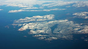 Aerial view of greenland Royalty Free Stock Photo