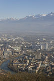 Aerial view of Grenoble and Isere river Stock Photography