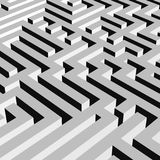 Aerial view of grey 3D maze labyrinth. Vector illustration Stock Image
