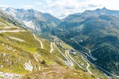 Grimselpass in the Bernese Alps, Switzerland Royalty Free Stock Photo
