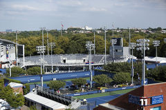Aerial view of ground courts at Billie Jean King National Tennis Center during  US Open 2013 Stock Image