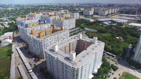 Aerial view group of high rise residential apartments. In Bangkok, Thailand Stock Photography