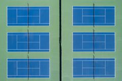 Tennis Courts Aerial View Royalty Free Stock Photos