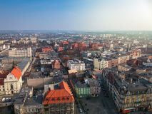 Aerial view of Grudziadz city. In Poland Royalty Free Stock Image