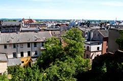 Aerial view on Grudziadz Poland stock photos