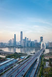 Aerial view of guangzhou liede bridge Royalty Free Stock Photos