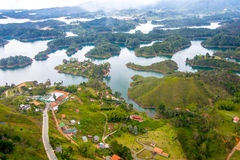 Aerial view of Guatape in Antioquia, Colombia Stock Photo