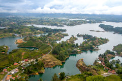 Aerial view of Guatape in Antioquia, Colombia Royalty Free Stock Photography