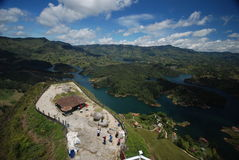 Aerial view of Guatape, Colombia Royalty Free Stock Photo