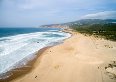 Aerial View of Guincho Beach, Cascais, Portugal Royalty Free Stock Photo