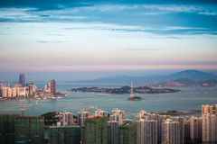 Aerial view of gulangyu island Stock Photo