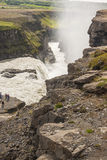 Aerial view on Gullfoss waterfall - Iceland. Royalty Free Stock Images