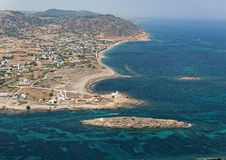 Aerial view of Gyrismata, Skiros island, Greece Royalty Free Stock Image