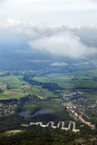 Aerial View of Habitated Land Royalty Free Stock Photography