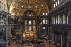Aerial view of Hagia Sophia interior Stock Photo