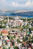 Aerial view of Hagia Sophia Istanbul Turkey. royalty free stock photography