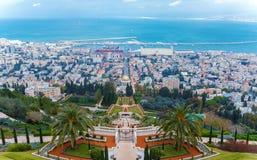 Aerial View of Haifa City, Israel, Israel Stock Photo