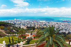 Aerial View of Haifa City, Israel, Israel Stock Photography