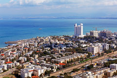 Aerial View of Haifa, Israel Royalty Free Stock Images