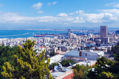 Aerial View of Haifa, Israel Stock Image