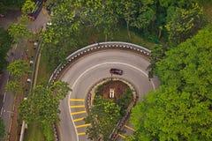 Aerial View Hairpin Turn on  Kuala Lumpur Roadway Stock Image