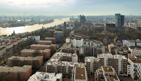 Aerial view of  Hamburg, Germany Royalty Free Stock Photo