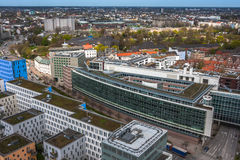 Aerial view of Hamburg in Germany Stock Photo
