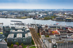 Aerial view of Hamburg in Germany Royalty Free Stock Images
