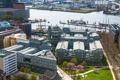 Aerial view of Hamburg. Typical street view from in Hamburg, Ger Stock Image