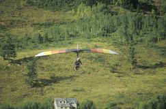 Aerial view of Hang Glider Royalty Free Stock Photography