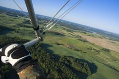 Aerial view from hang-glider Stock Image
