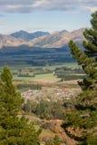 Aerial view of Hanmer Springs spa resort Stock Photos