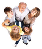 Aerial view of happy family Royalty Free Stock Images