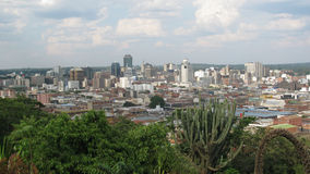 Aerial view  of  Harare city. Stock Image