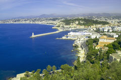 Aerial View of Harbor at Nice, France Royalty Free Stock Photography