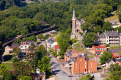 Aerial View Harpers Ferry National Park Royalty Free Stock Image