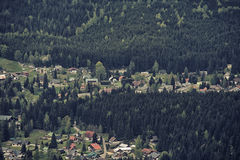 Aerial View of Harrachov Stock Photo