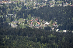Aerial View of Harrachov Royalty Free Stock Photos