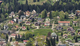 Aerial View of Harrachov Stock Photos