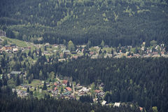 Aerial View of Harrachov Stock Image