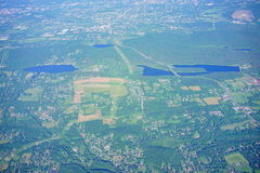 Aerial view of hartford. Aerial view of landscape at hartford, CT Stock Images